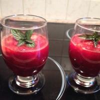 Soupe de fraises ou écrasé de fraises